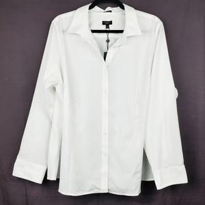 TALBOTS White Wrinke Resistant Shirt 22W Petite